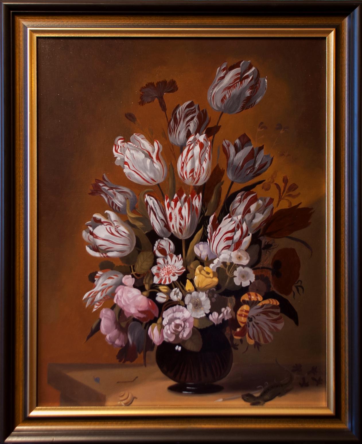 Kopie obrazu váza s tulipány
