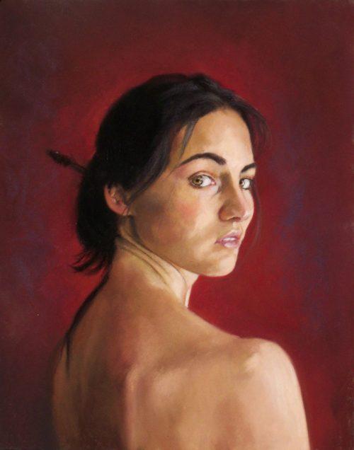 portrét Audrey
